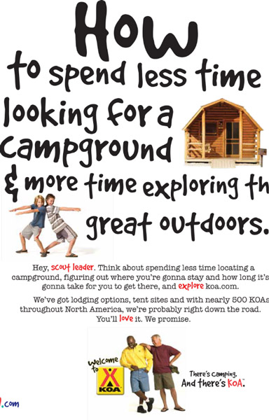 ad for koa campgrounds
