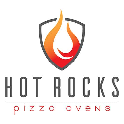 logo designed by rhinohub digital for hot rocks pizza ovens