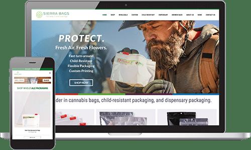 website design for rhinohub client showing both mobile design and desktop design