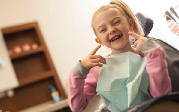 happy kid at the dentist