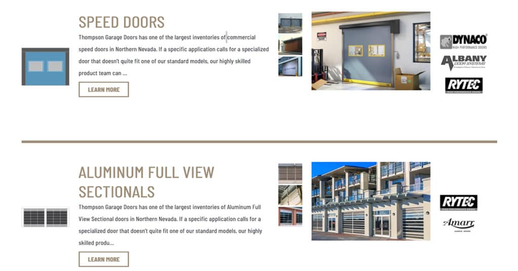 commercial doors screenshot