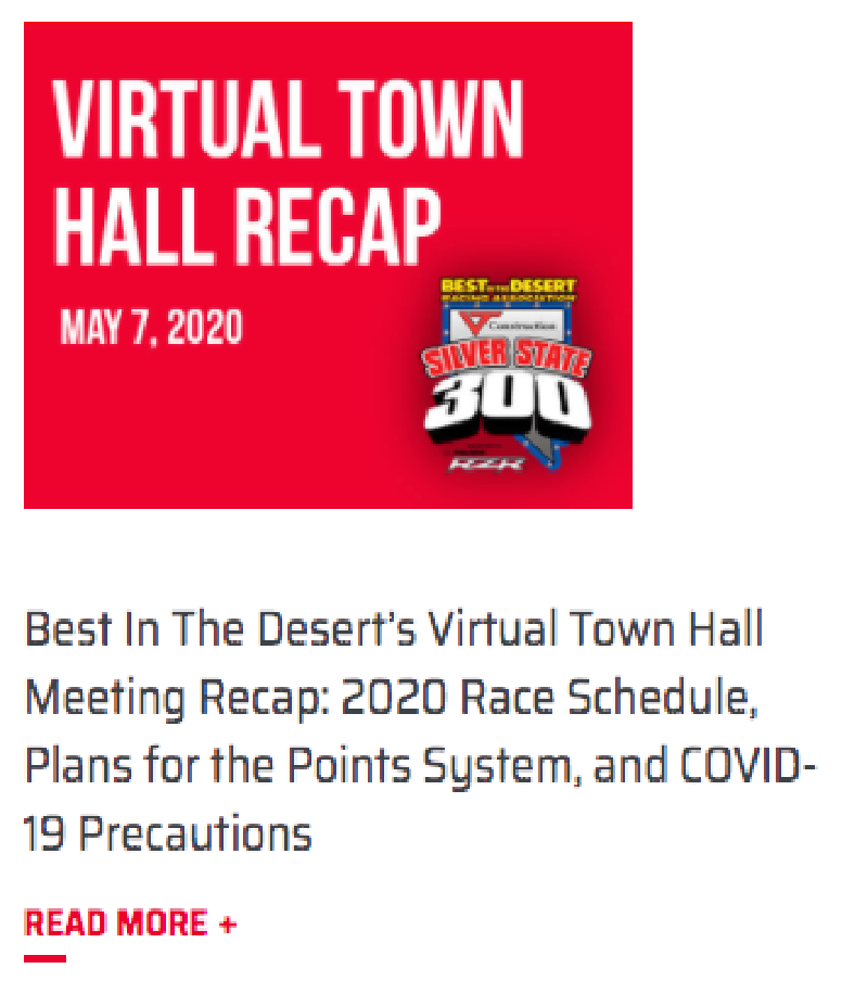 virtual townhall recap for bitd