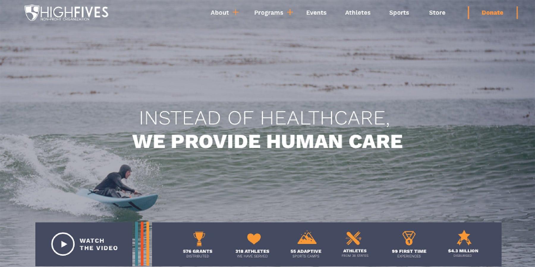 highfives site design